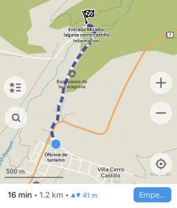 Inicio del sendero a Cerro Castillo