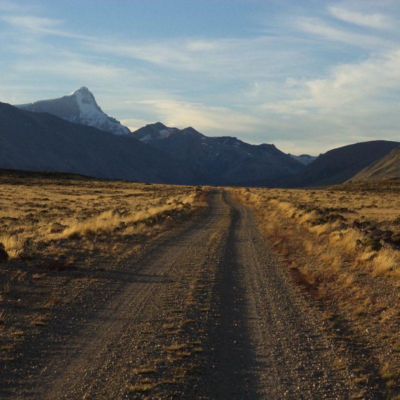 Camino en el Parque Nacional Perito Moreno