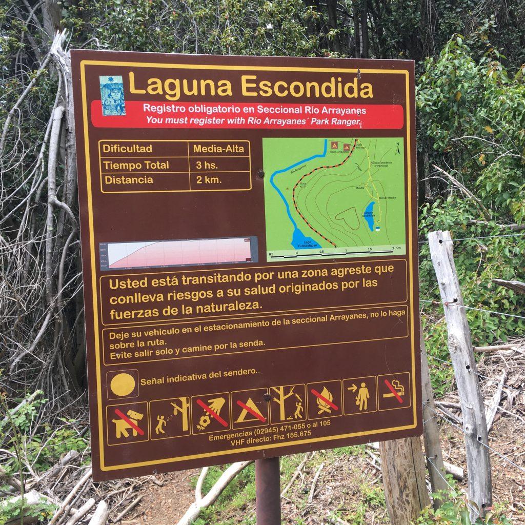 Detalles del Sendero Laguna Escondida
